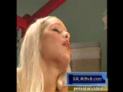Blond big-tit bombshell fucks the machines 