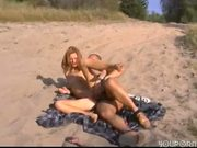 Drilled Hard on the Beach