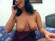 Rubbing her pussy on the phone - Sascha Productions