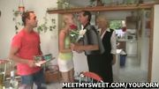 Naughty girl have fun with her boyfriend's parents