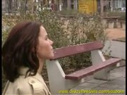 hot chick pissing in public