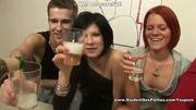 Redhead Tastes Sperm Cocktail