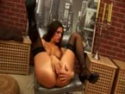 Sandy sits on a dildo - CzechSuperStars