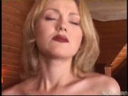 sexy hot blonde rides an older cock (CLIP)
