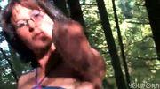 Mature Katia in the woods