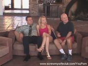 Cute Blond Wife: Screwed, Hubby Says YES!