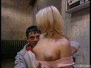 Blonde in the breakroom