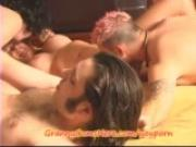 GRANNY has a CO-ED ORGY and CUM PARTY