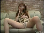 Japanese pantyhose babe loves cock