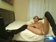 Pornstar Katie Jordin sex machine webcam