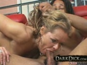 White Cougar Wife takes on Big Black Cock