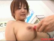Japanese AV Model has her pussy touched