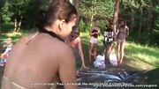 Lesbian and group action near the river