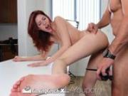 CastingCouch-X - Redhead Ashlynn Molloy with long legs cums on the agent