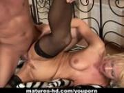 Mature floozy Marylin enjoys being shagged rough