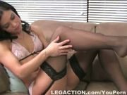 Tight firm-bodied Alyssa masturbating