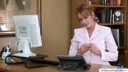 Horny secretary Samantha Stone masturbation