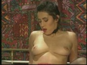 Brunette has giant pussy lips