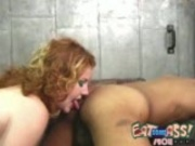 Ass Licking RedHead Licks a Black Butthole