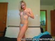 Kaylee Rain in a Tiny White Cotton Thong