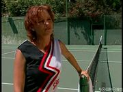 Tennis girl gets sexy lessons