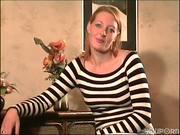 Horny hottie films a scene 1/6