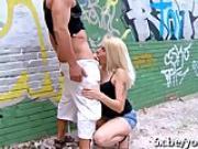 Cute blonde Venus analfucked outdoor