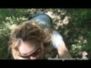 Slut Blows Some Guy in the Woods