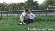 Daring PUBLIC sex by a highway PART 1