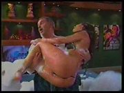 Bikini Pussy Flash on Spanish TV Show