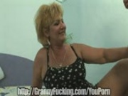 Granny bangs stripper