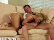DevilsFilms blonde Teen blows friends Dad