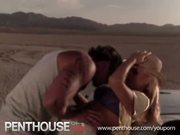 Hot blonde fucked hard at the desert!