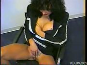 Busty babe fucked in oldschool scene