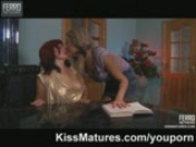 Young lesbian girl seduces mature woman