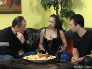 Couple entertain a friend