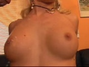 Sexpot with big heart washes body with cum
