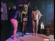 Masked Men Obey Buxom Blonde (CLIP)