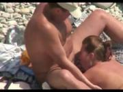 Fucking A Cuckold Bitch At The Beach