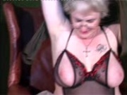 Granny shows her pussy