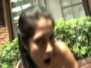 Latina sweetie gets boned in the garden - Latin-Hot