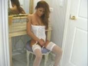Charmane Starr white lingerie