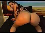 Busty big booty latina teasing