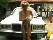 Euro hottie gets soaped up