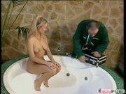 Lucky hot tub repairman