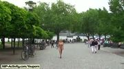 Monic shows their boobs in public streets