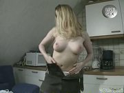 Really cute blonde girl masturbating and jerking off a cock - Venality Productions