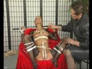 Brunette MILF loves being tied up - Julia Reaves