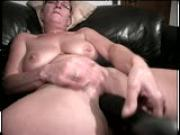 Grandma makes herself cum