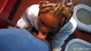 Ebony gets a nice facial